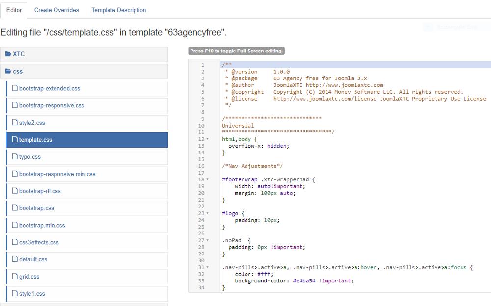 Jooml CSS file