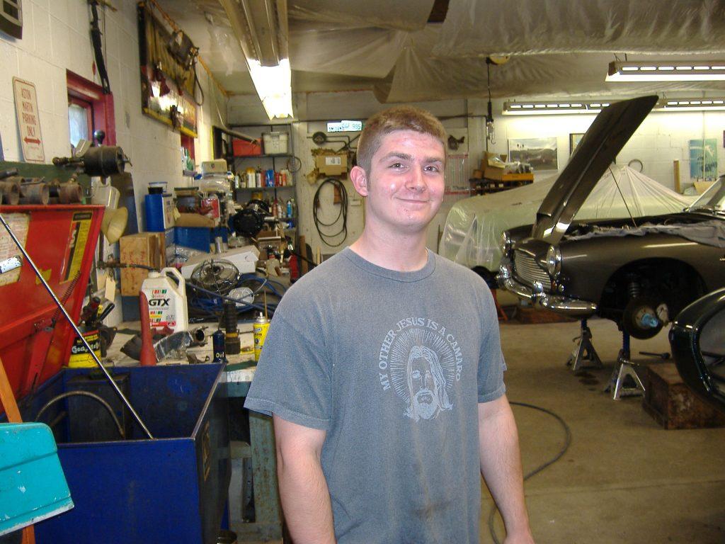Tim Beachboard in the shop.